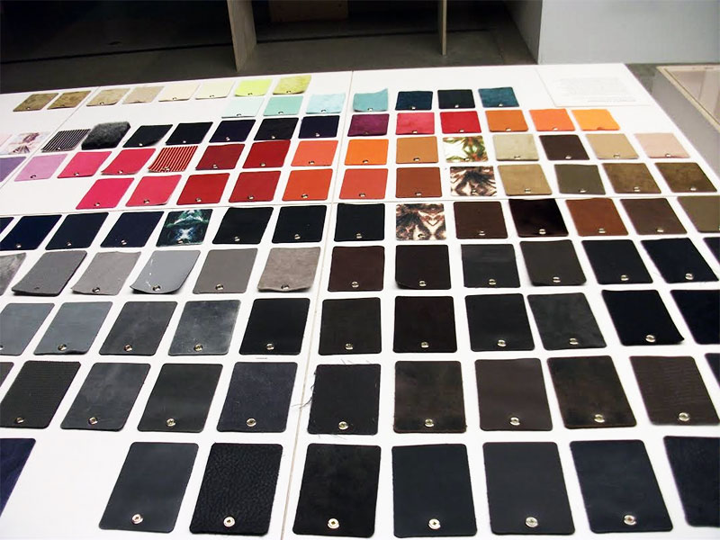 More Leather Sample Colours